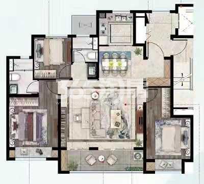 锡山圆融广场115平户型图