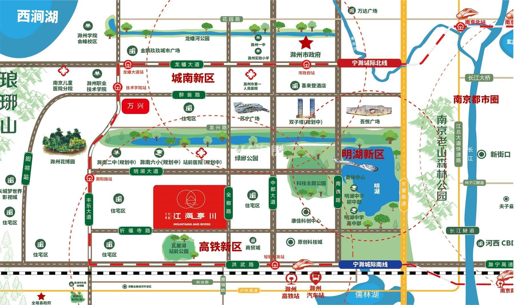 万兴奥园·江海亭川交通图