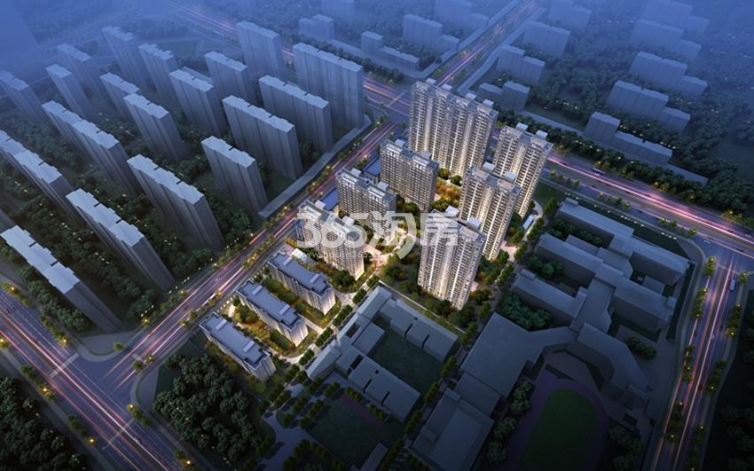 紫薇·华发CID中央首府鸟瞰图