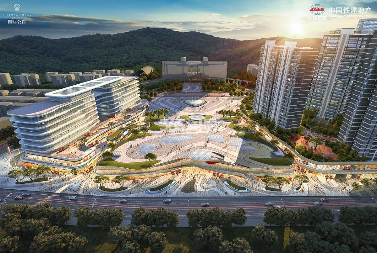 中国铁建·国际公馆鸟瞰图