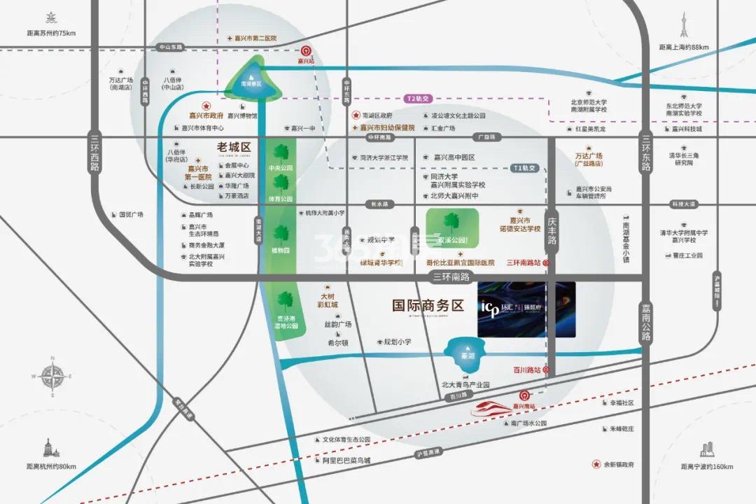 合景·环汇商业广场|臻颐府交通图