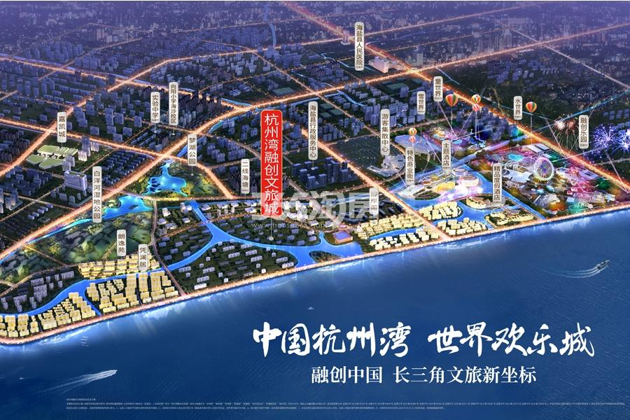 杭州湾融创文旅城鸟瞰图