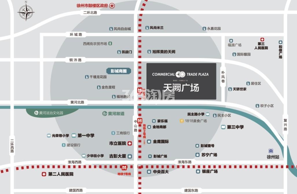 旭辉美的天阙广场交通图