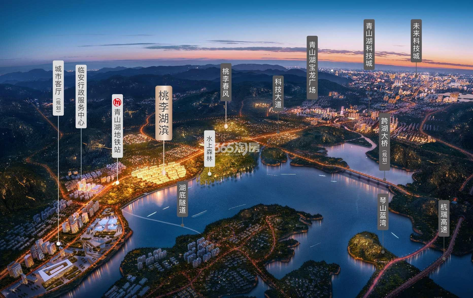 桃李湖滨交通图