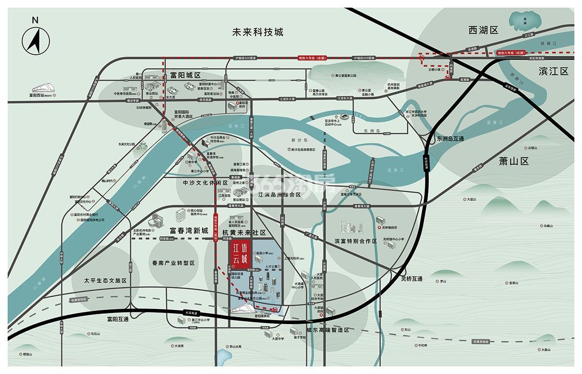 中交保利江语云城交通图