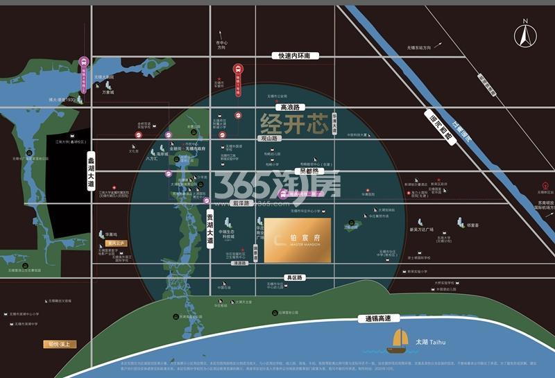 铂宸府交通图