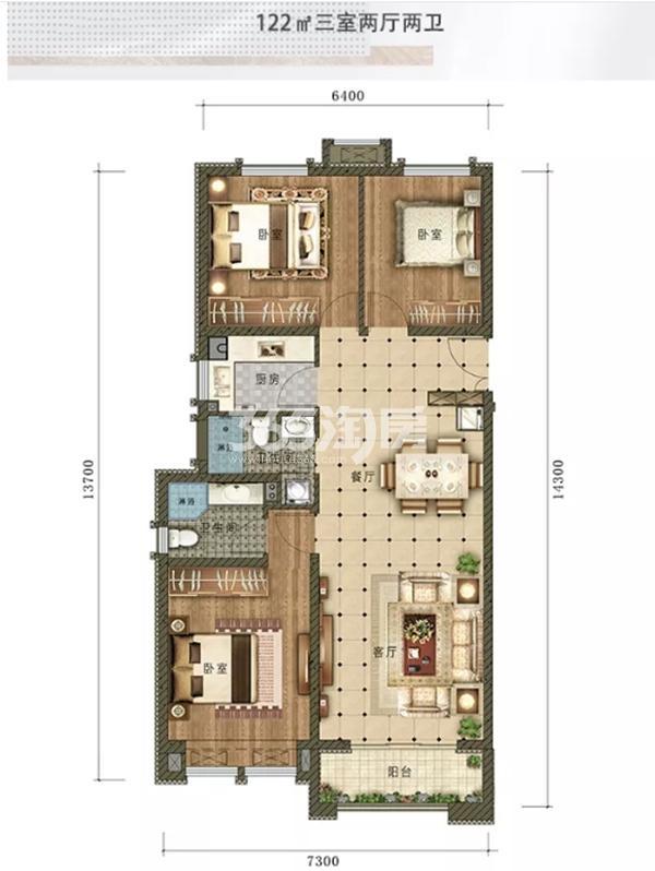 鸿森·银滩广场户型图