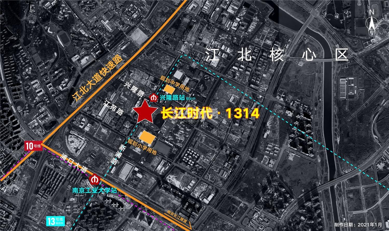 长江时代1314交通图