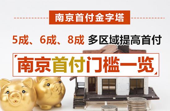 5成、6成、8成!南京多区域首付提高 首付门槛一览