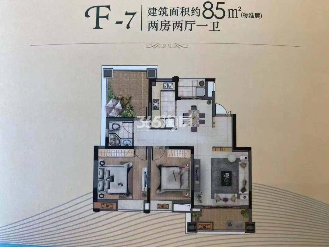 喜之郎丽湖湾低密度多层建筑面积85㎡户型图F-7