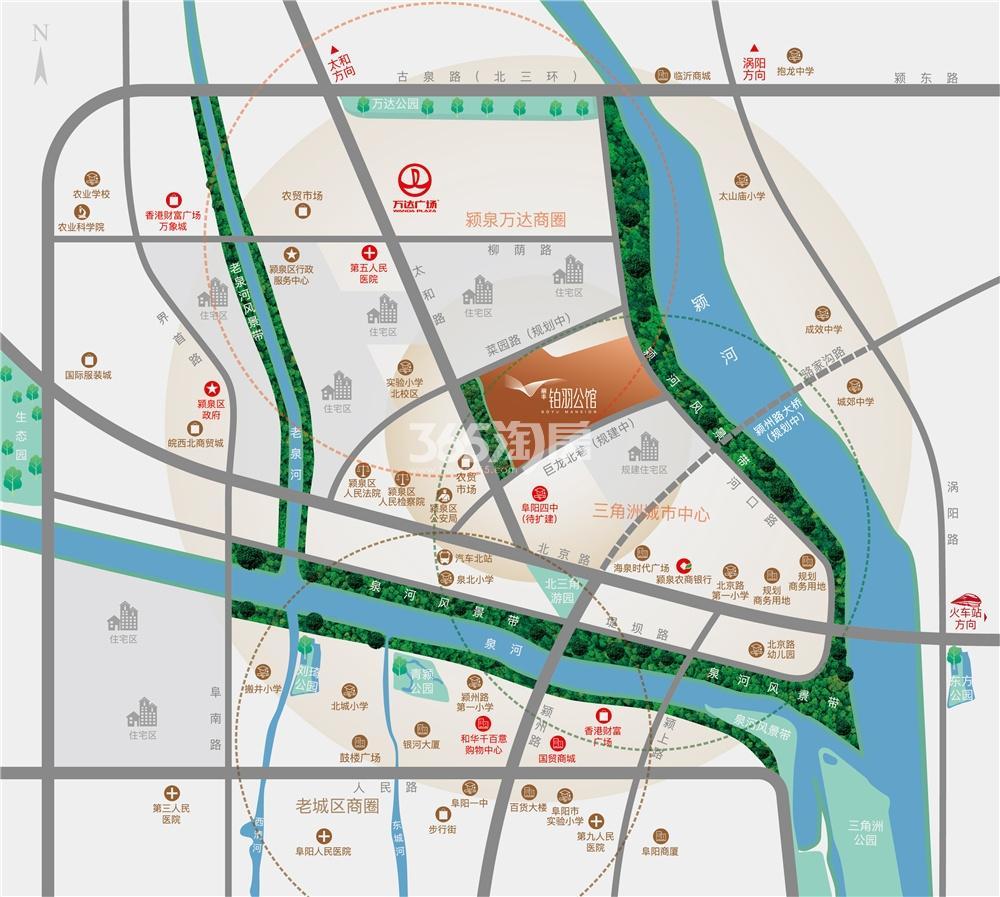 丽丰·铂羽公馆交通图