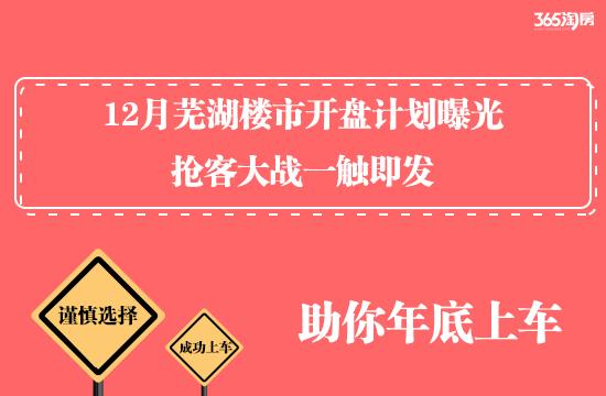 剧透!12月芜湖楼市开盘计划曝光,抢客大战一触即发!
