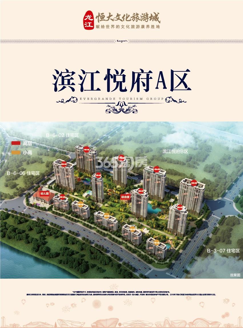 龙江恒大文化旅游城鸟瞰图
