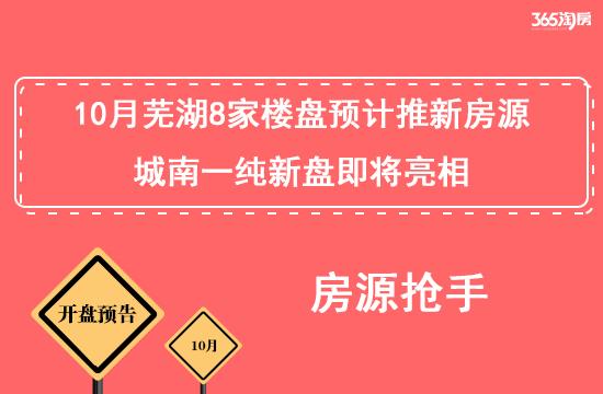 抢手!10月芜湖8家楼盘预计推新房源,城南一纯新盘将亮相