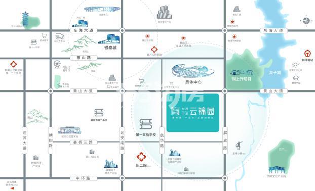 世茂中梁·云锦园交通图
