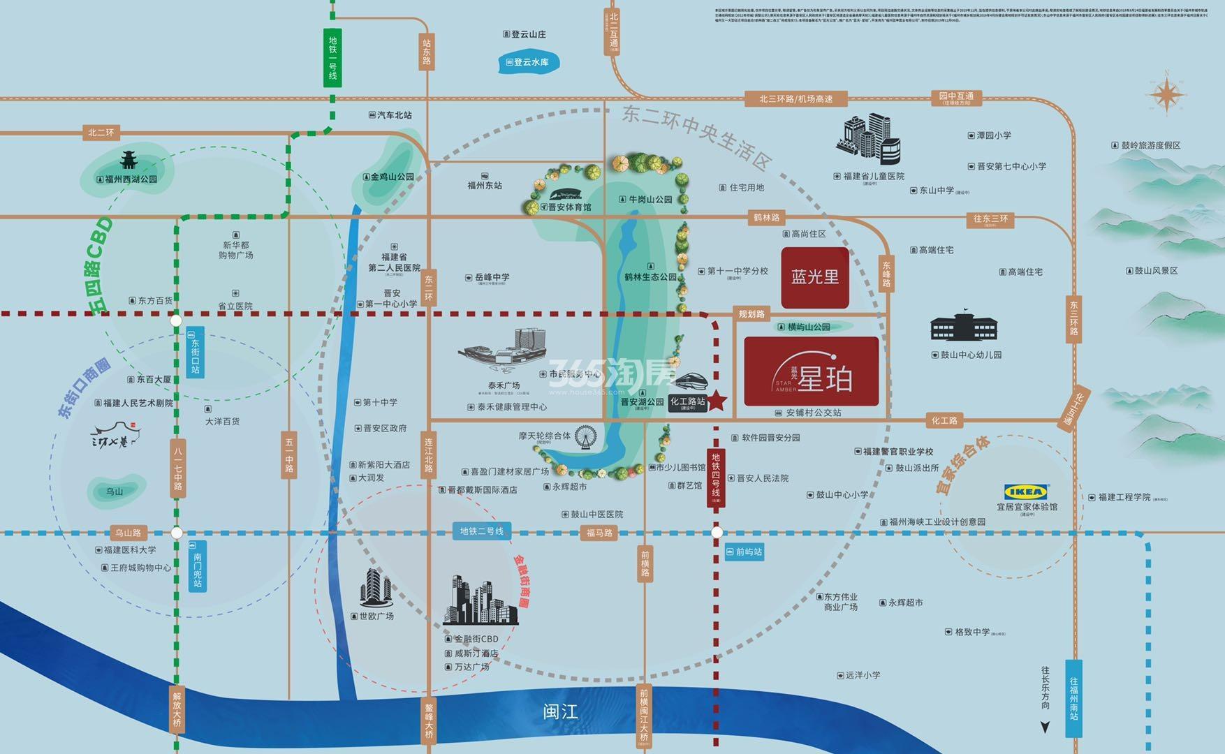 蓝光里交通图