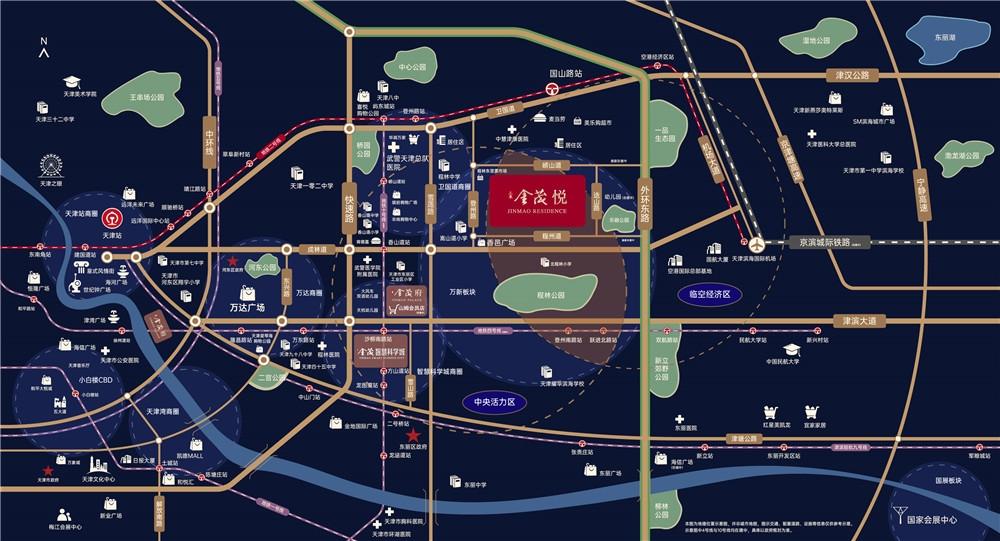 上东金茂悦交通图