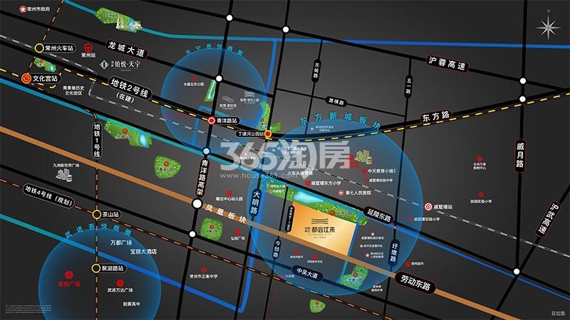 锦艺旭辉·都会江来交通图
