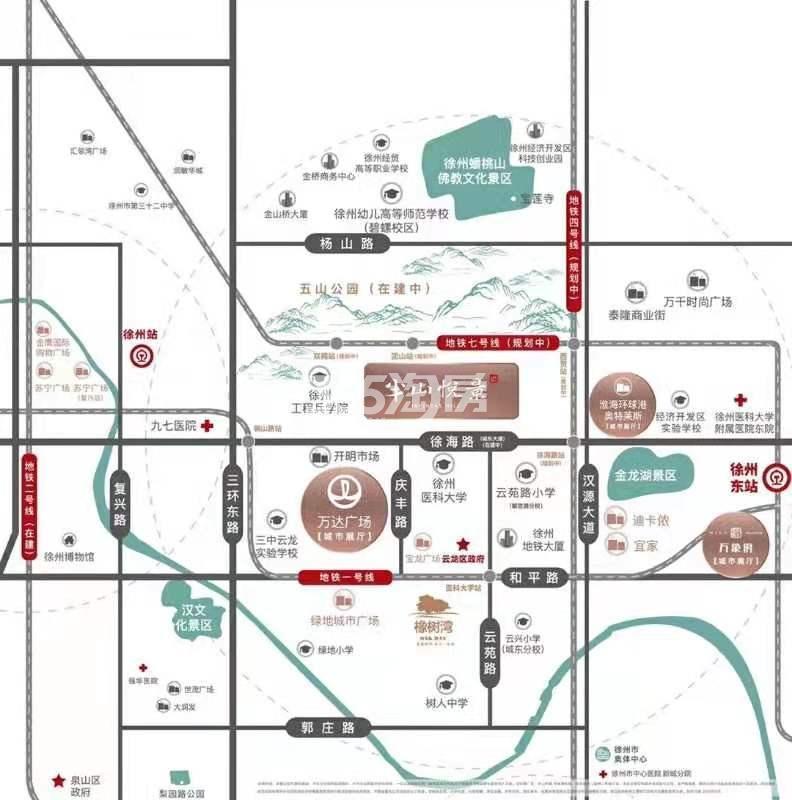 半山悦景交通图