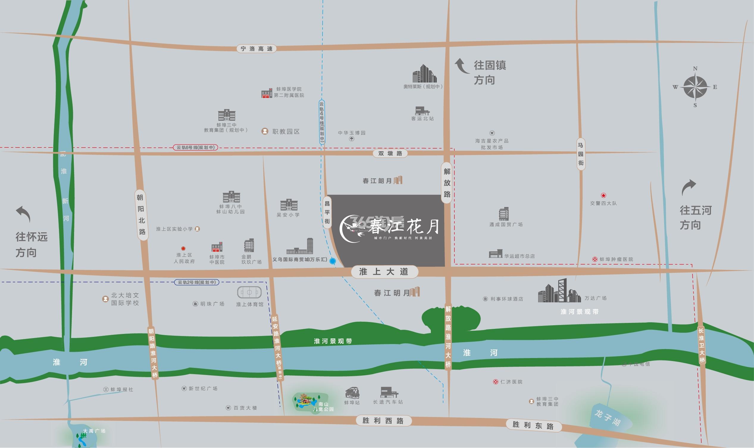 春江花月交通图