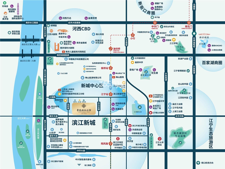 鲁能硅谷公馆交通图