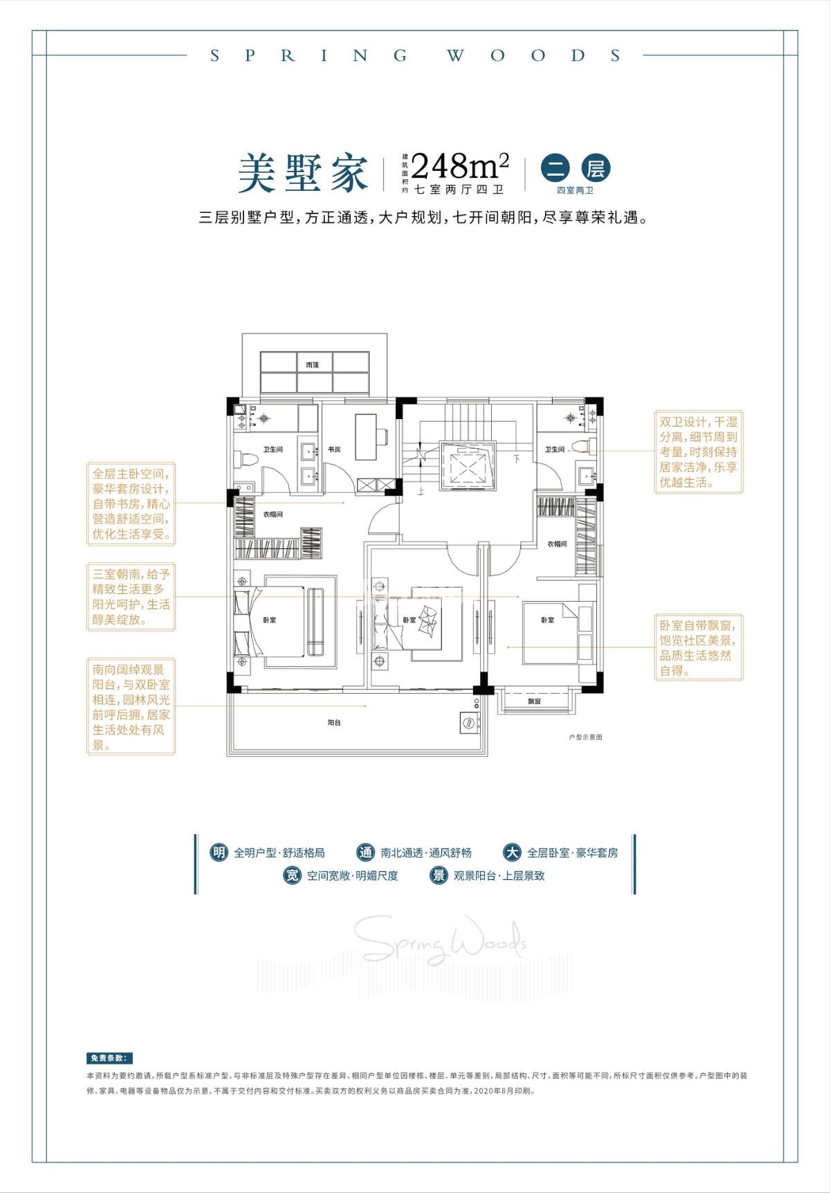 248㎡别墅户型图——二层