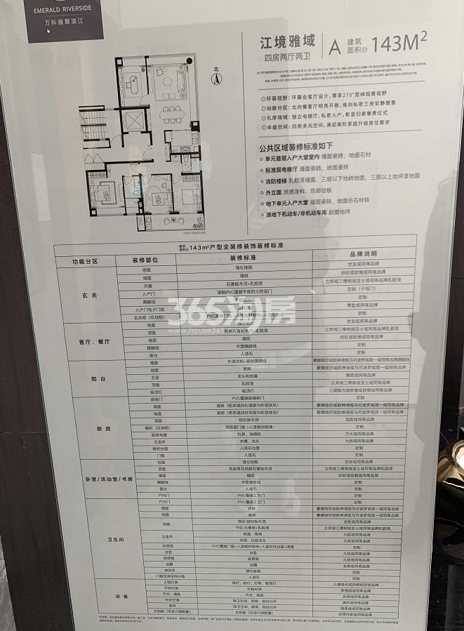 万科翡翠滨江建筑面积约143㎡装修标准图(1.8)