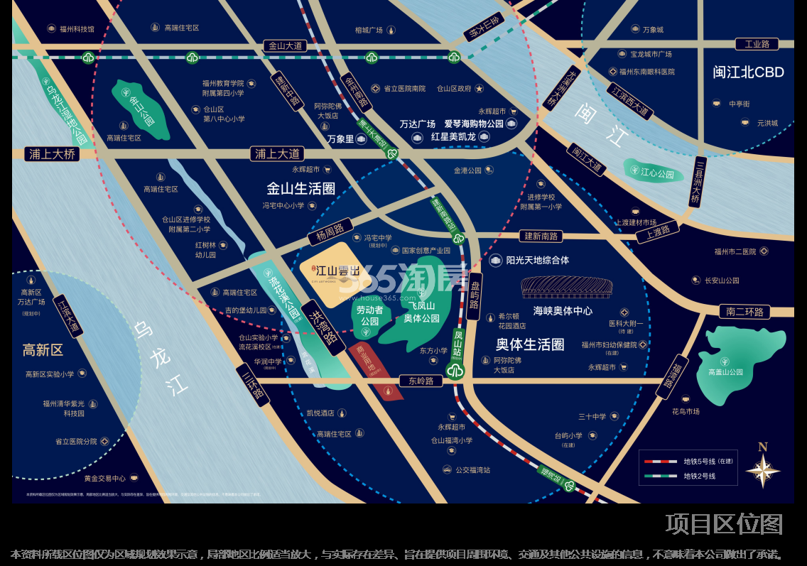 旭辉江山云出交通图