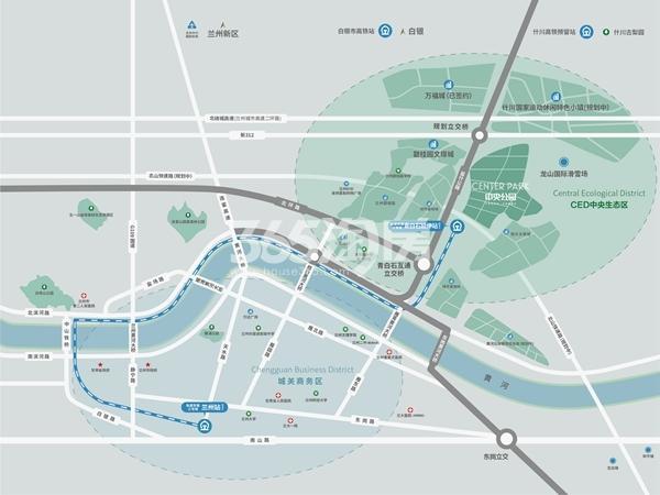 兰州·中央公园交通图