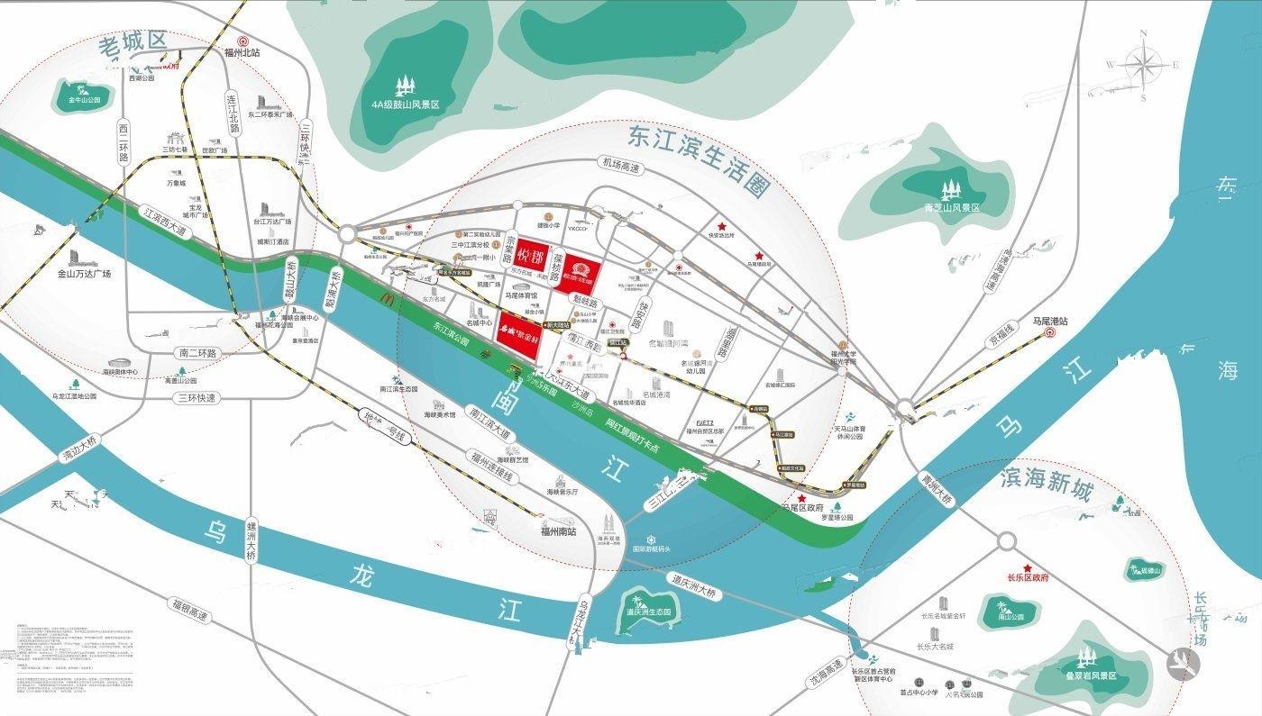 名城悦郡交通图