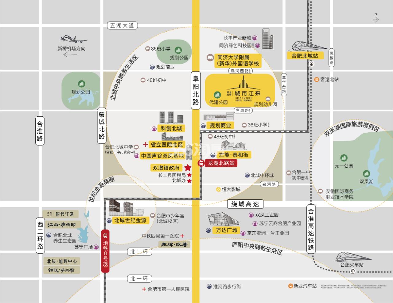 港龙旭辉城市江来交通图