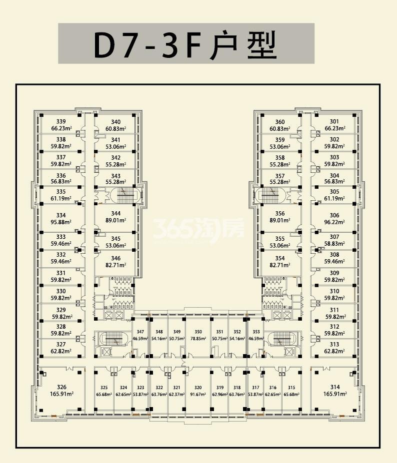1668华商里D7#-3F楼层图