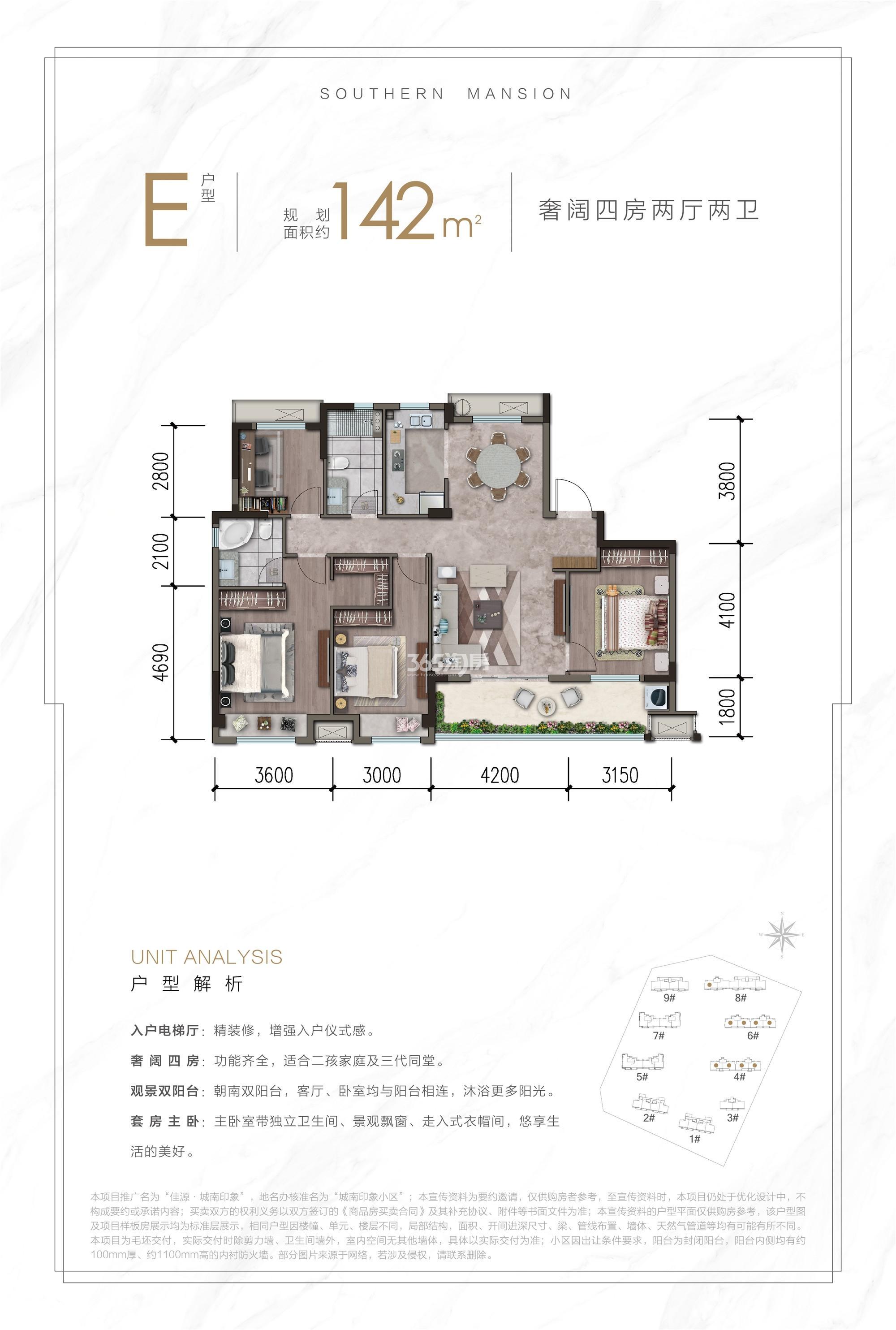 佳源·城南印象户型图