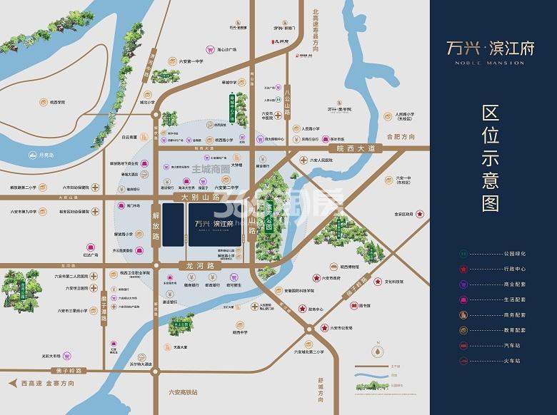 万兴·滨江府交通图