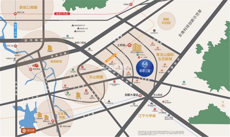 雅居乐雅郡兰庭交通图