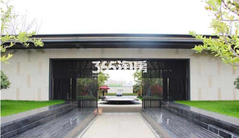 北雁湖玥园售楼部入口处实景图(2020.12.9)