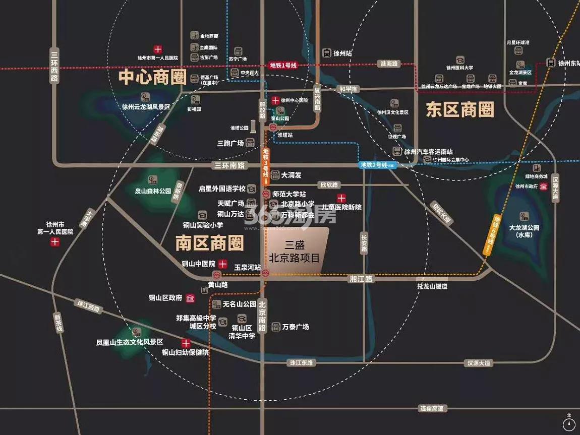 三盛中城交通图