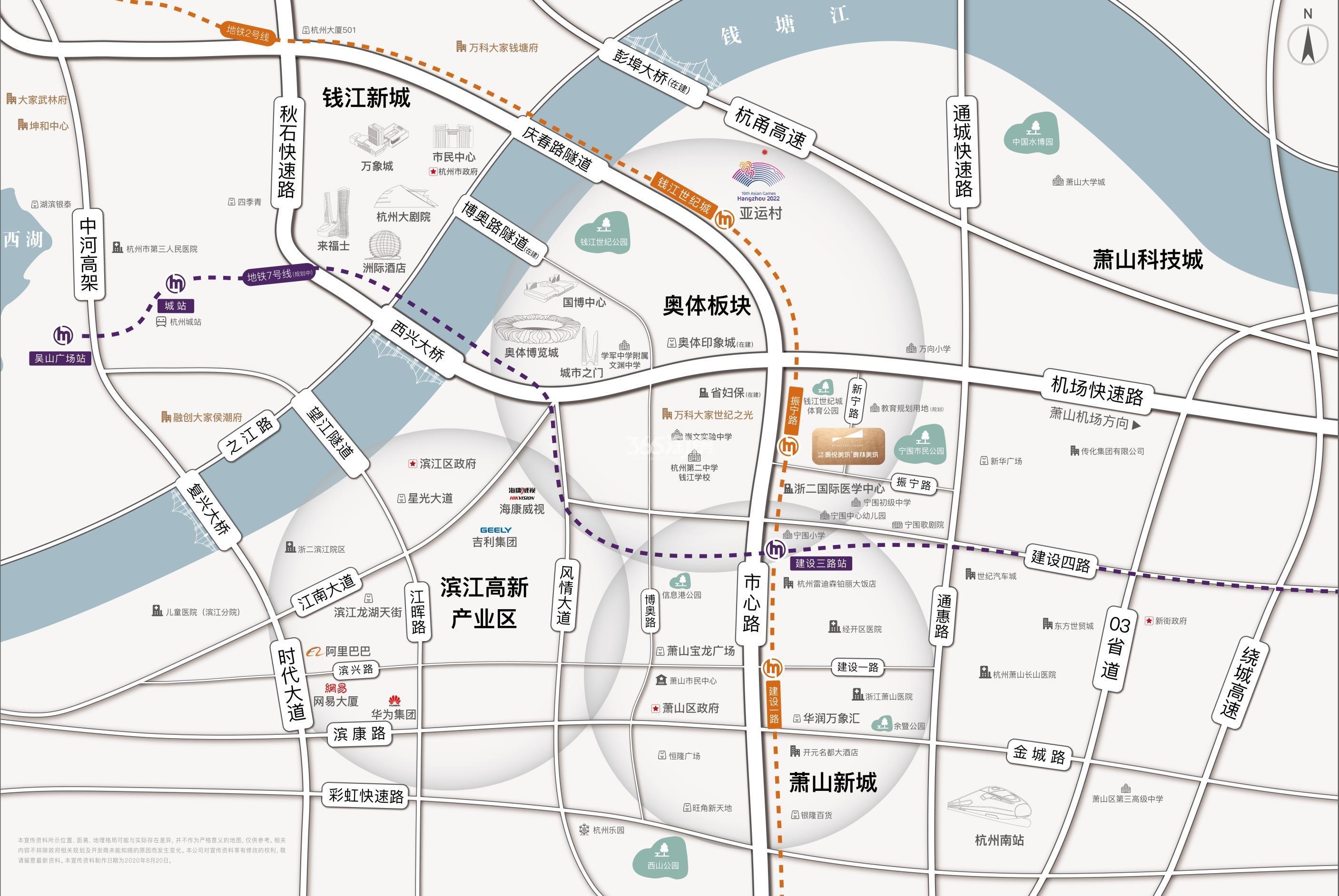 大家坤和美筑交通图