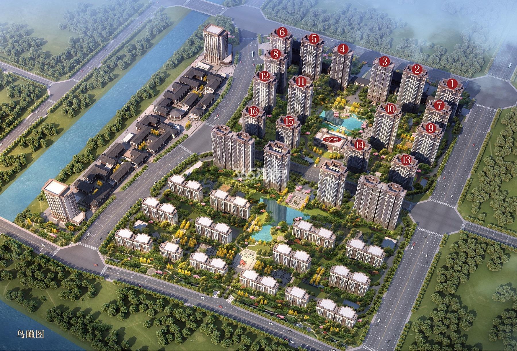 蚌埠恒大·悦澜湾鸟瞰图