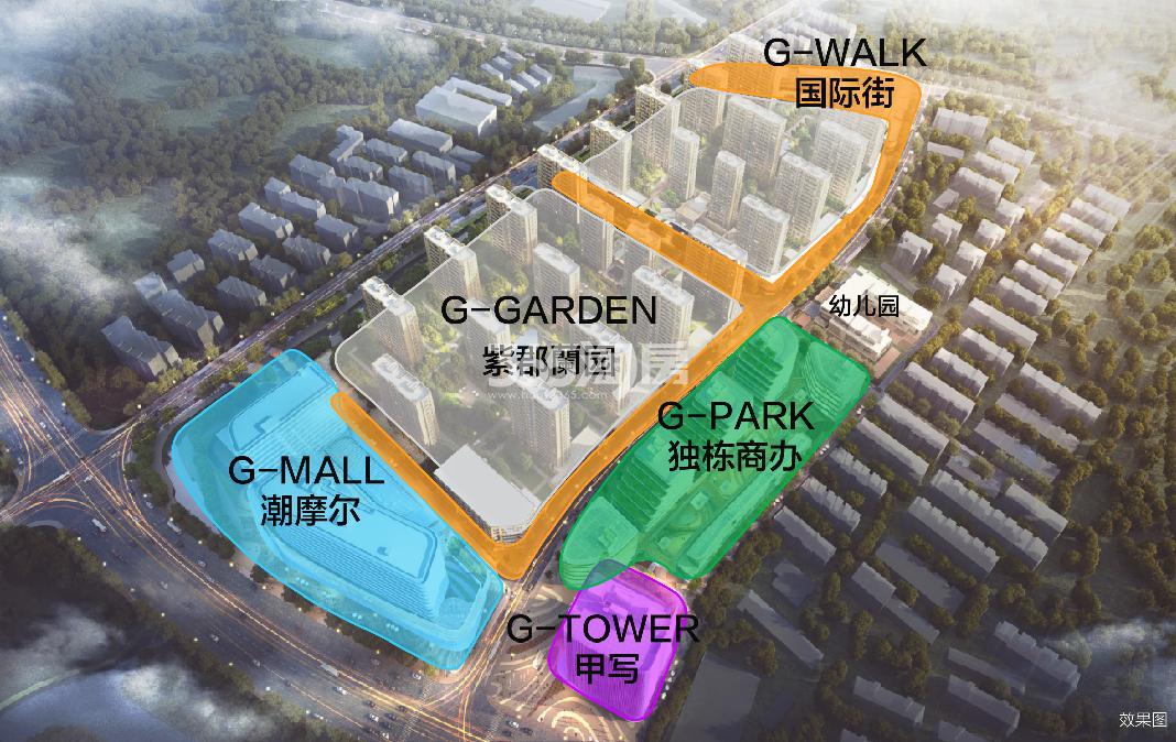 葛洲坝招商国际广场鸟瞰图