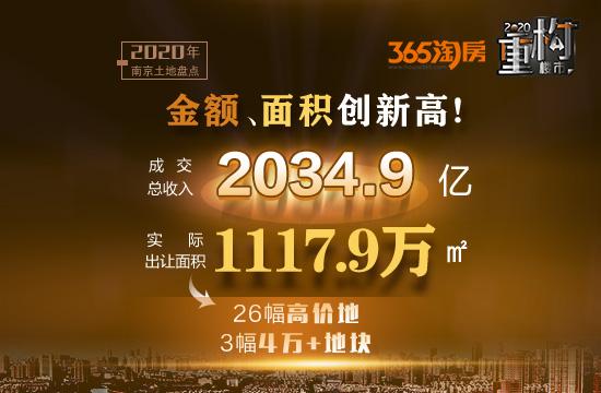 今年南京卖出216幅地、吸金2034.9亿!未来房价格局定了