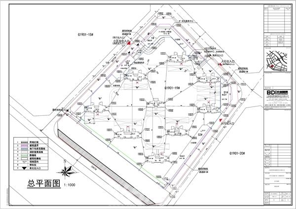 规划9栋住宅 万达城G1901-19#地块住宅小区平面图公示