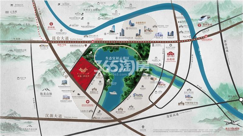 璞樾御珑湖交通图