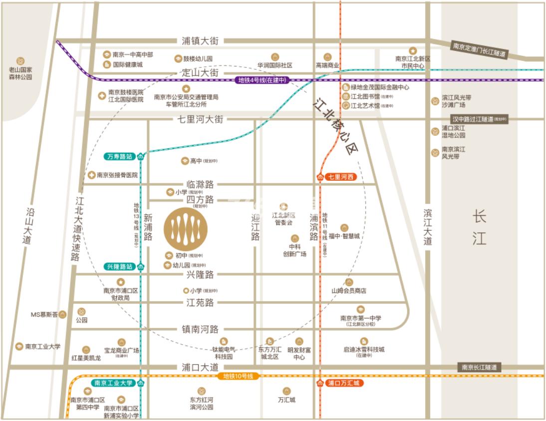 首开万科江悦光年交通图