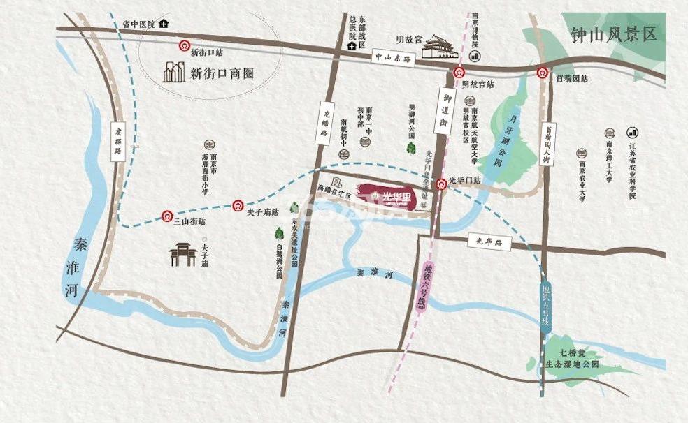 南京地铁·光华里交通图