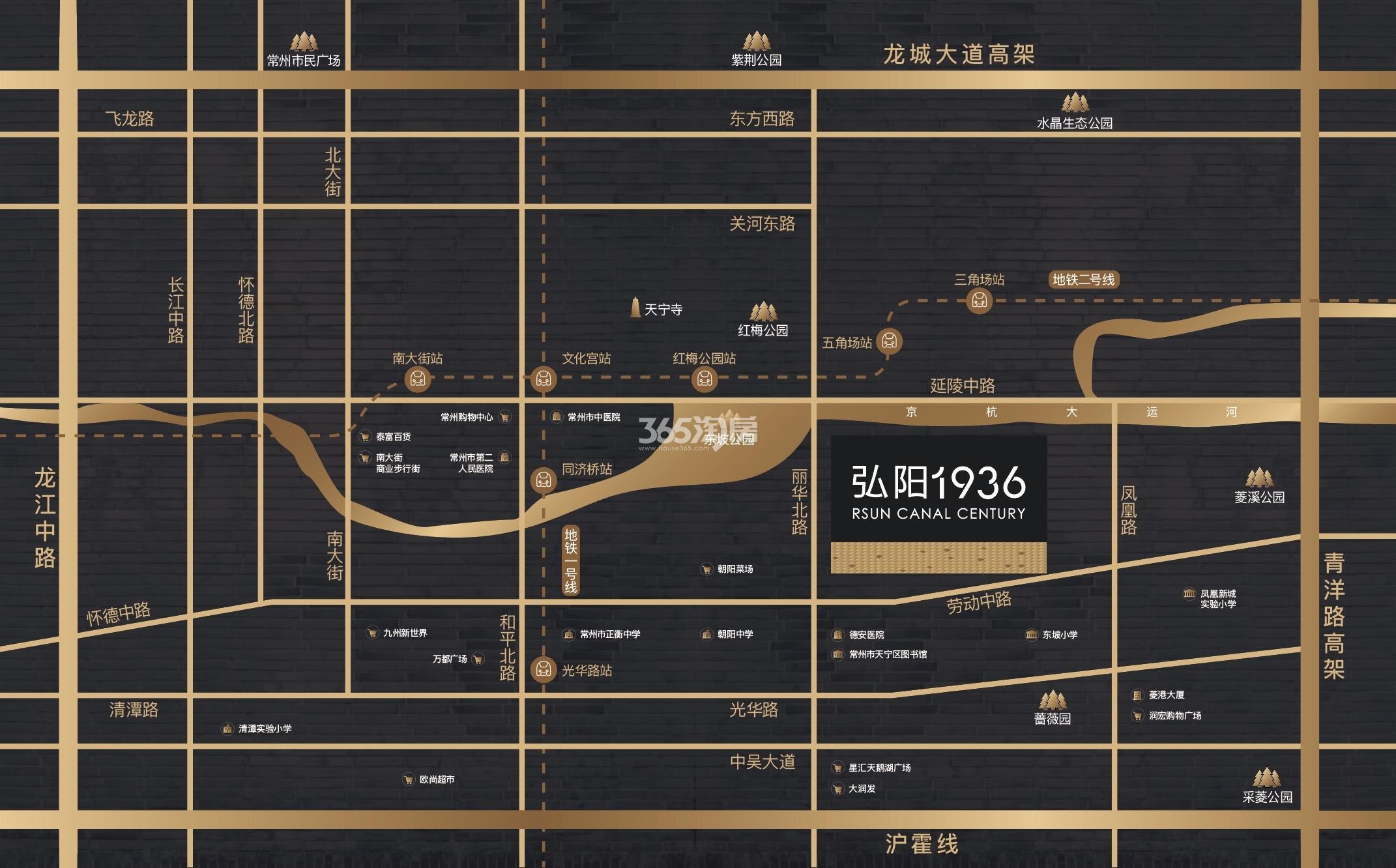 常州弘阳1936交通图