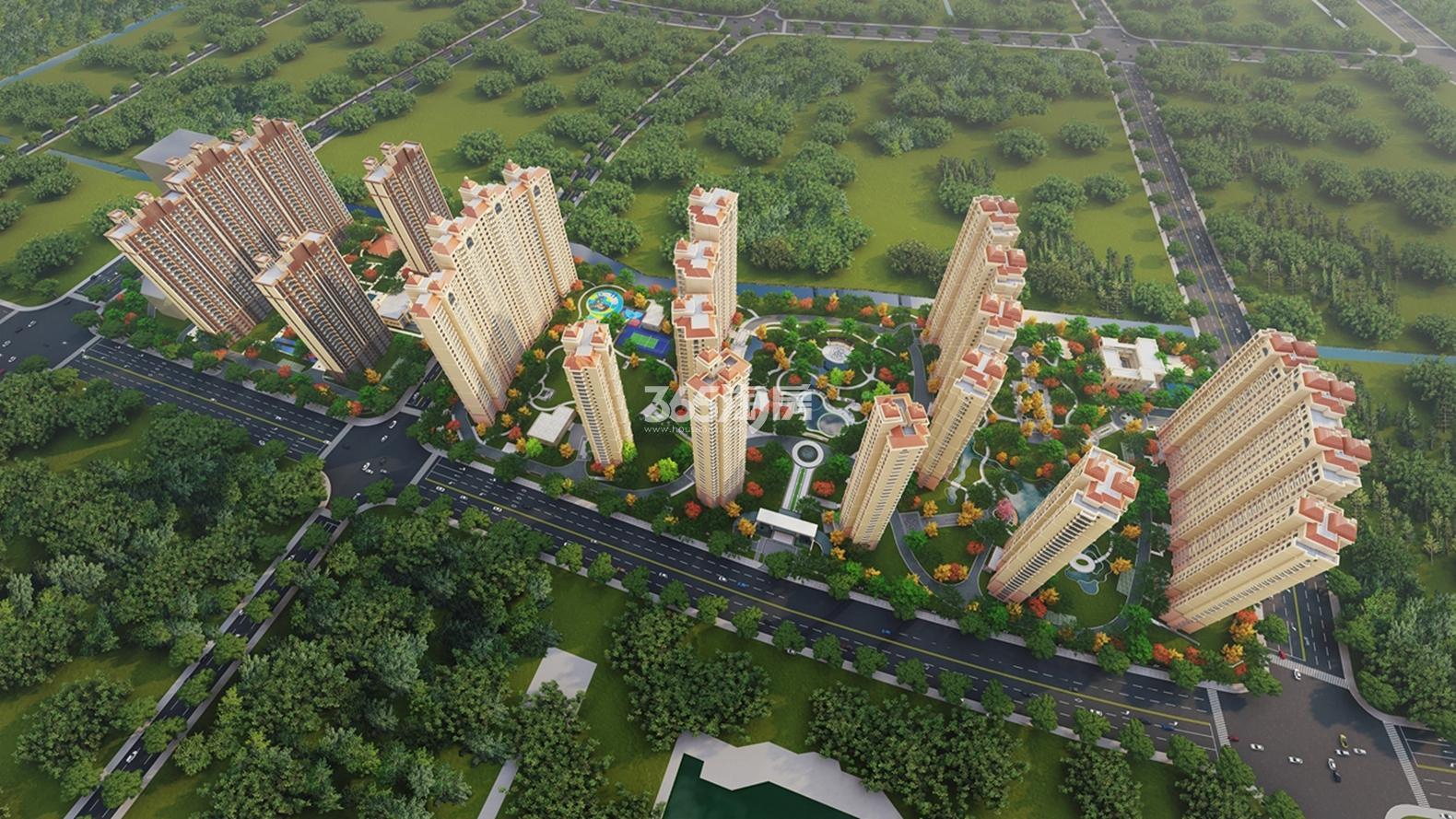 东城中央府鸟瞰图