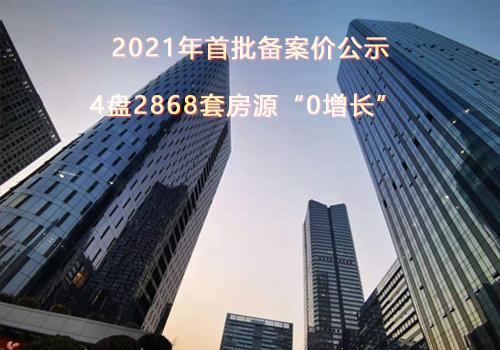 """刚刚!2021年首批备案价公示,4盘2868套房源""""0增长"""""""