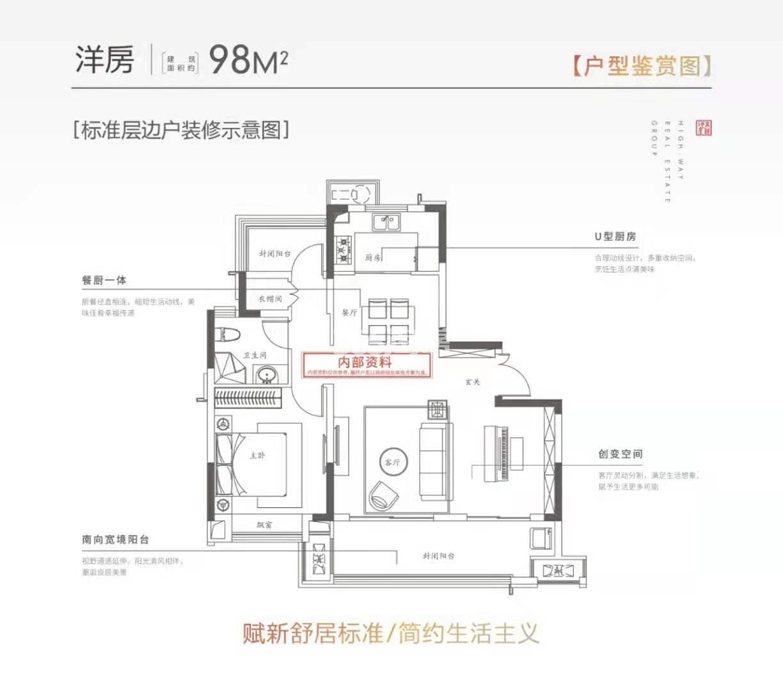 高速时代书院低密度多层98㎡户型图