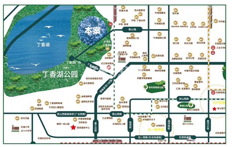 兴创奥悦丁香小镇交通图